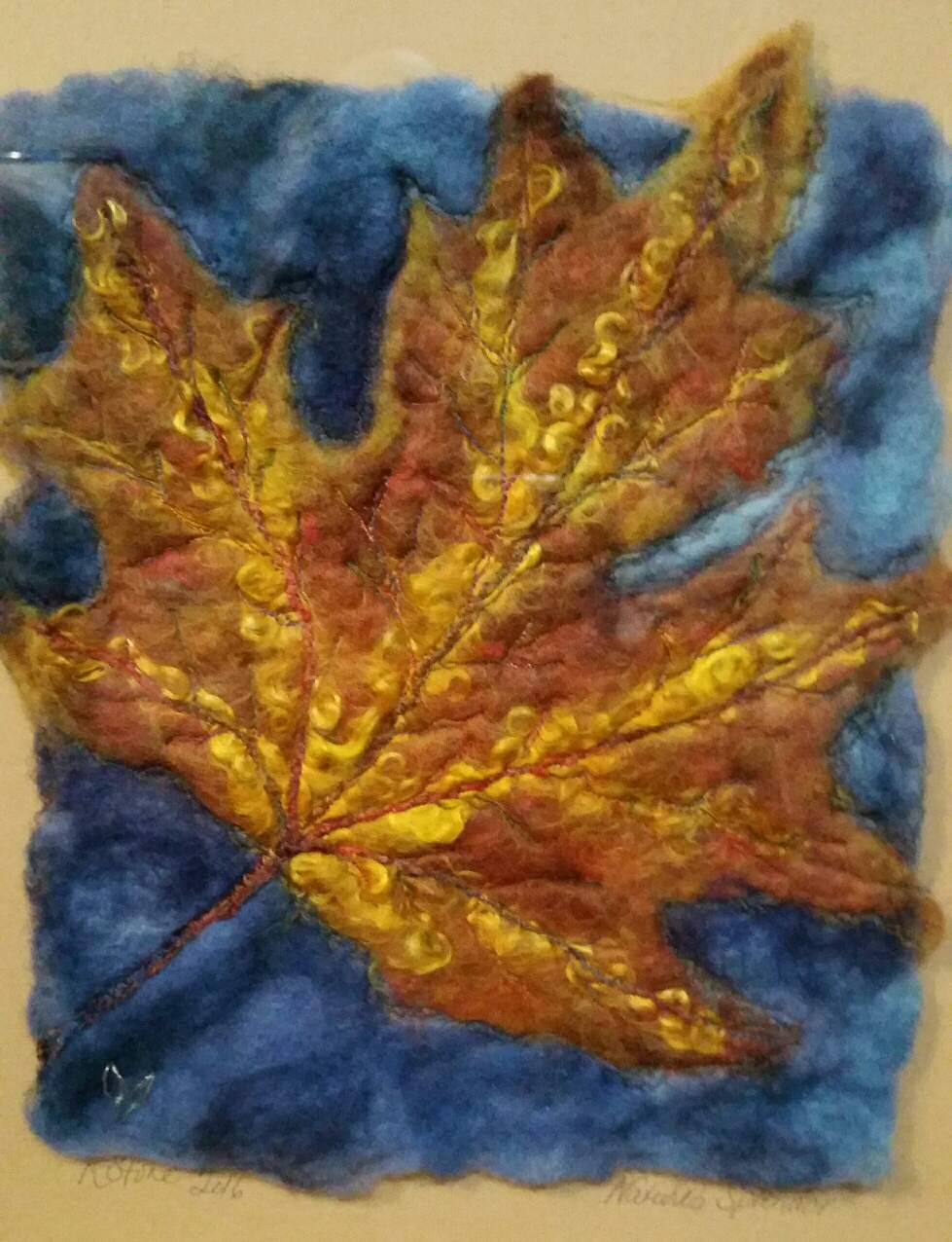 First Leaves Fiber Art