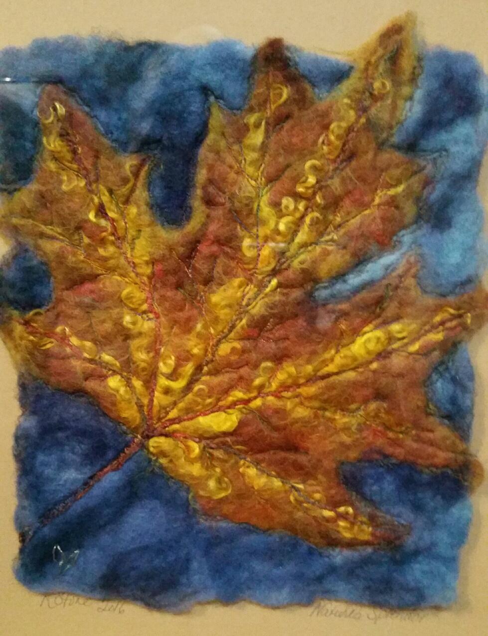 First Leaves Fiber Art